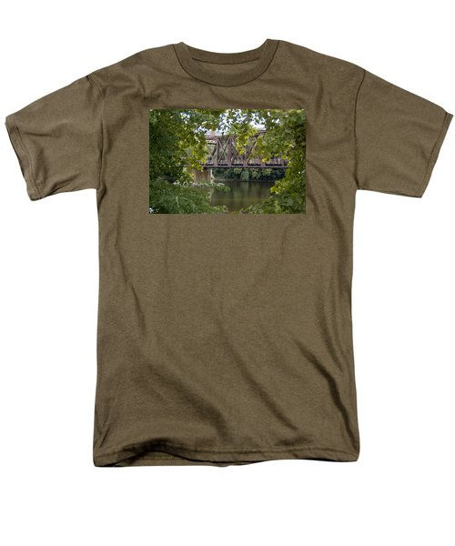 Men's T-Shirt  (Regular Fit) featuring the photograph Train Trestle by Michael Dorn