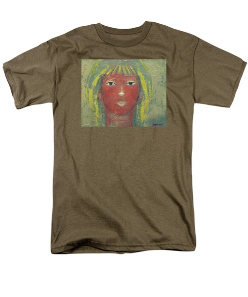 Men's T-Shirt  (Regular Fit) featuring the painting Tranquil Gaze by Becky Kim