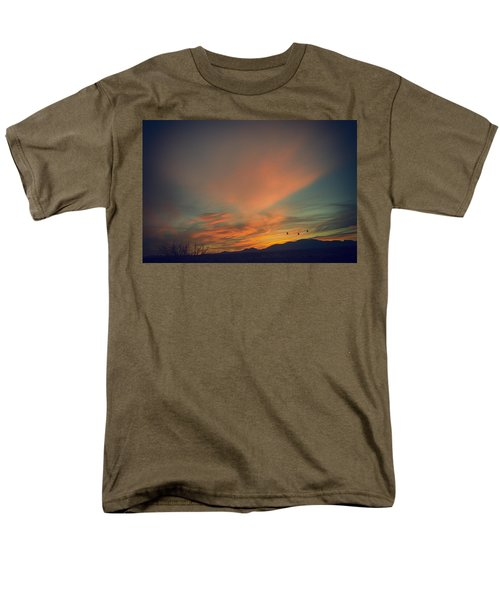 Men's T-Shirt  (Regular Fit) featuring the photograph Tranquil Sunset by Barbara Manis
