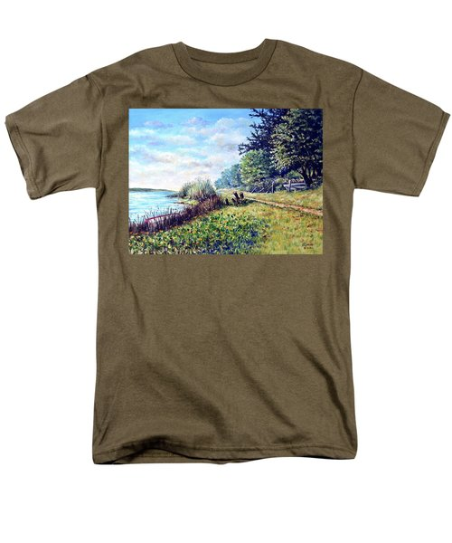 Men's T-Shirt  (Regular Fit) featuring the painting Tranquility by Heidi Kriel