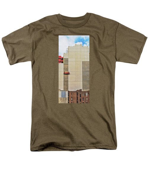 Men's T-Shirt  (Regular Fit) featuring the photograph Transition From Old To New In New York by Gary Slawsky