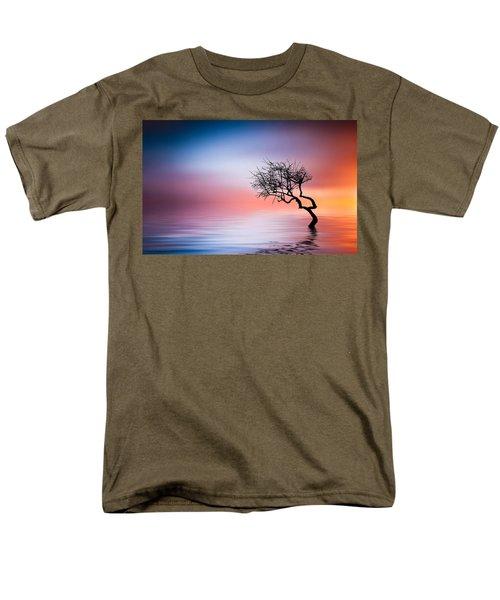 Tree At Lake Men's T-Shirt  (Regular Fit) by Bess Hamiti
