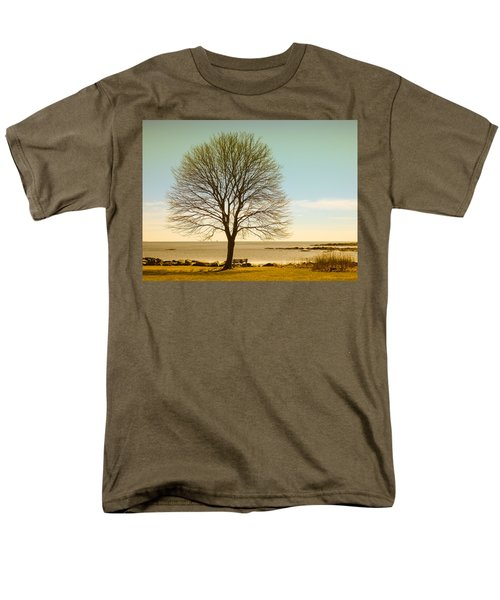 Tree At New Castle Common Men's T-Shirt  (Regular Fit) by Nancy De Flon