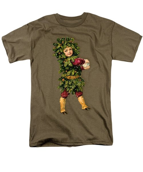 Tree Child Vintage Christmas Image Men's T-Shirt  (Regular Fit)