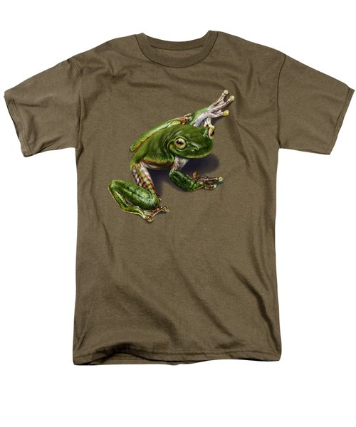 Tree Frog  Men's T-Shirt  (Regular Fit) by Owen Bell