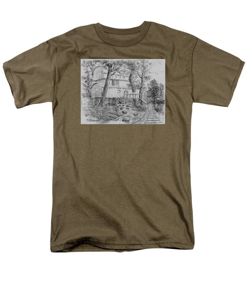 Men's T-Shirt  (Regular Fit) featuring the drawing Tree House #5 by Jim Hubbard