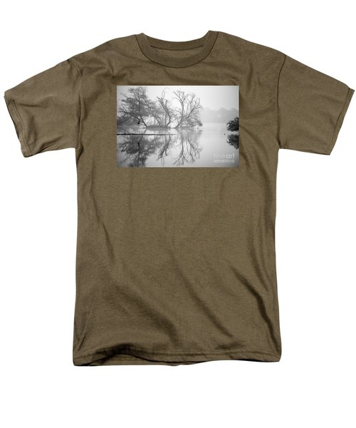 Tree In A Lake Men's T-Shirt  (Regular Fit) by Pravine Chester