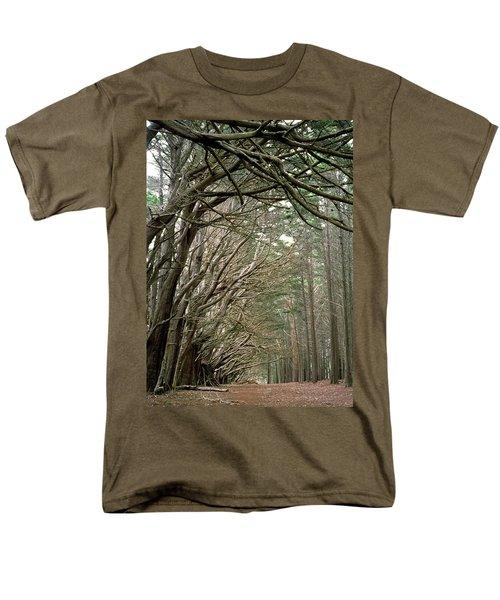 Tree Lane Men's T-Shirt  (Regular Fit) by Art Shimamura