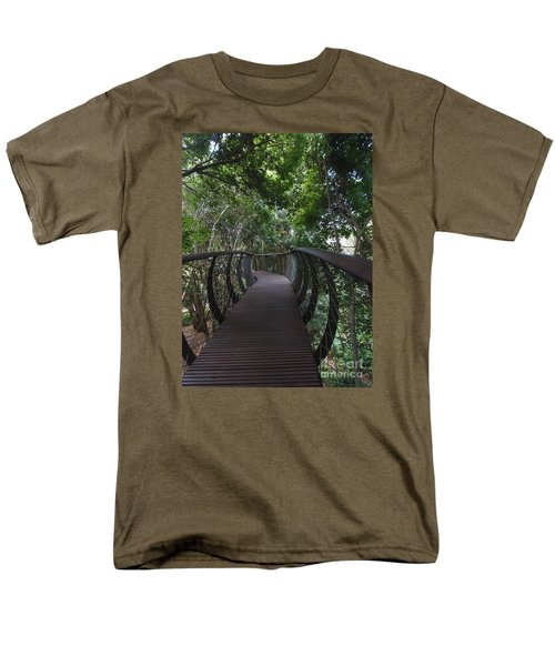 Treetop Canopy Walk Men's T-Shirt  (Regular Fit) by Bev Conover