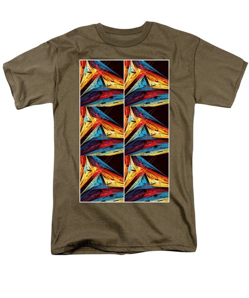 Triangle In Colour Colors Of  Art Men's T-Shirt  (Regular Fit) by Sheila Mcdonald