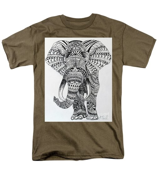 Tribal Elephant Men's T-Shirt  (Regular Fit) by Ashley Price