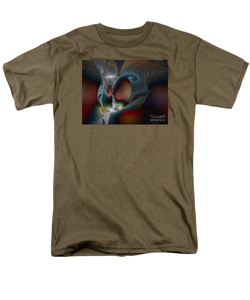 Men's T-Shirt  (Regular Fit) featuring the digital art Trip Into Unknown by Karin Kuhlmann