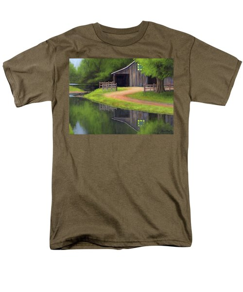 Men's T-Shirt  (Regular Fit) featuring the painting Triple L Ranch  by Janet King