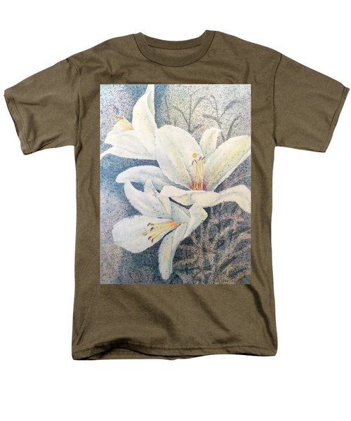 Men's T-Shirt  (Regular Fit) featuring the painting Triplefold White by Carolyn Rosenberger