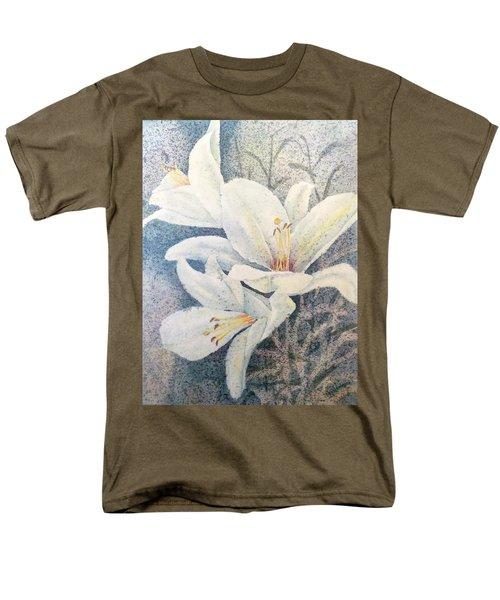 Triplefold White Men's T-Shirt  (Regular Fit)