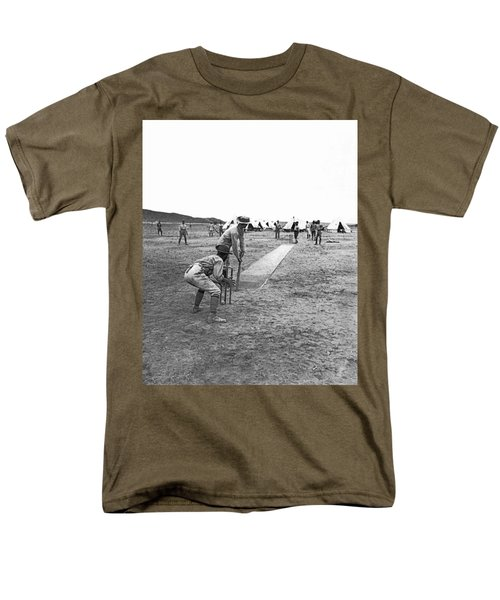 Troops Playing Cricket Men's T-Shirt  (Regular Fit) by Underwood Archives