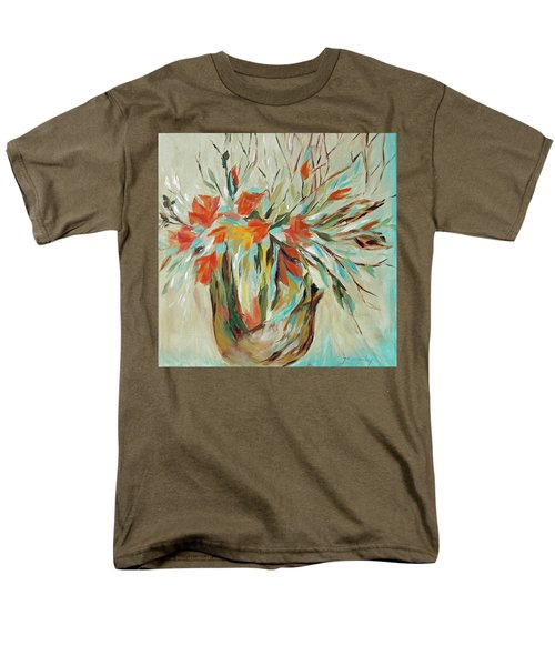 Men's T-Shirt  (Regular Fit) featuring the painting Tropical Arrangement by Joanne Smoley