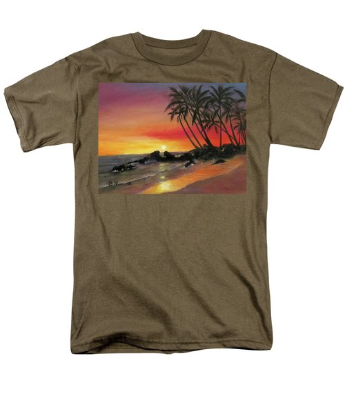 Men's T-Shirt  (Regular Fit) featuring the painting Tropical Sunset by Roseann Gilmore
