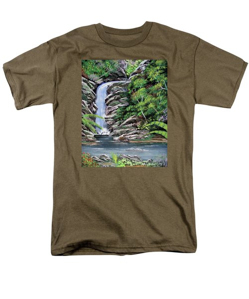Tropical Waterfall 2 Men's T-Shirt  (Regular Fit) by Luis F Rodriguez