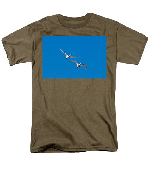Men's T-Shirt  (Regular Fit) featuring the photograph Trumpeter Swans 1735 by Michael Peychich