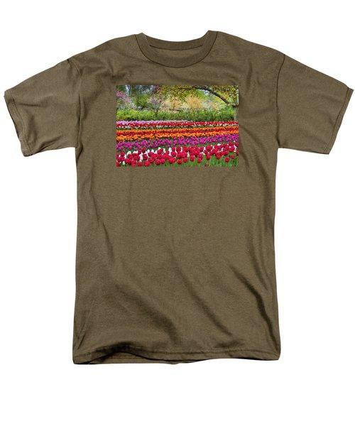 Tulip Mania Men's T-Shirt  (Regular Fit) by Nadia Sanowar