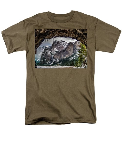 Men's T-Shirt  (Regular Fit) featuring the photograph Tunnel View From The Tunnel by Bill Gallagher