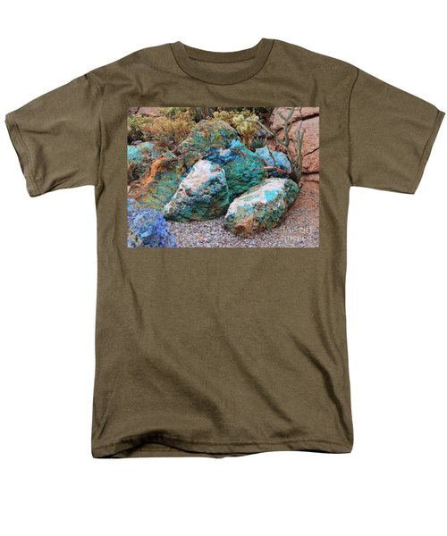 Turquoise Rocks Men's T-Shirt  (Regular Fit) by Donna Greene