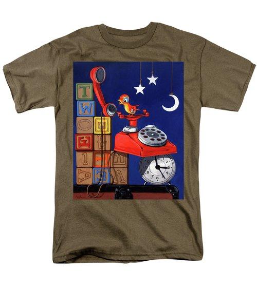 Tweets -narrative Painting Men's T-Shirt  (Regular Fit)