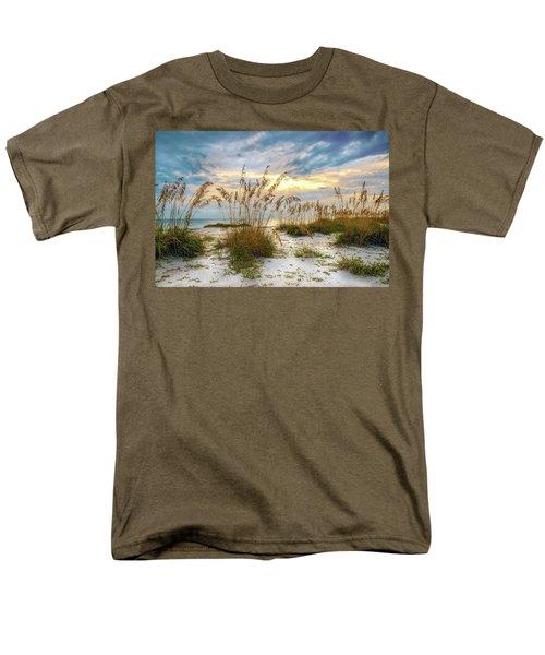 Twilight Sea Oats Men's T-Shirt  (Regular Fit) by Steven Sparks