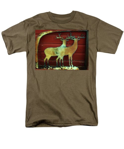 Two Bucks 1 Men's T-Shirt  (Regular Fit) by Larry Campbell