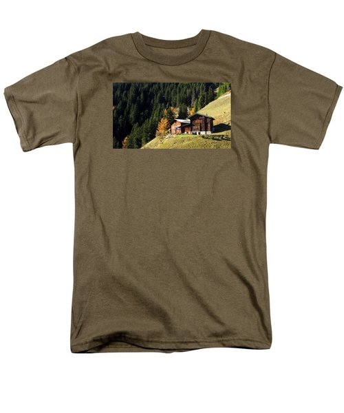 Two Chalets On A Mountainside Men's T-Shirt  (Regular Fit) by Ernst Dittmar
