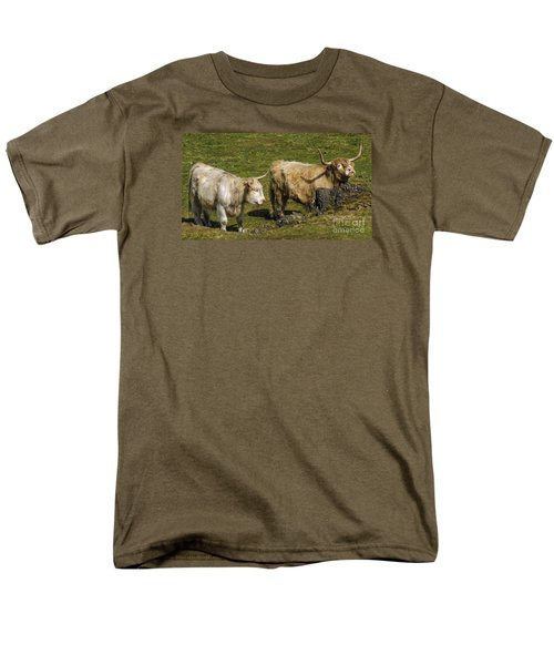 Men's T-Shirt  (Regular Fit) featuring the photograph Two Coos by Linsey Williams