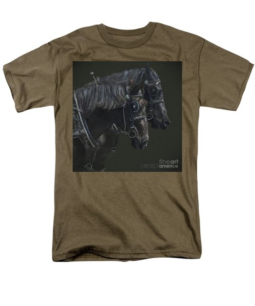 Two Percherons Men's T-Shirt  (Regular Fit) by Kathy Russell