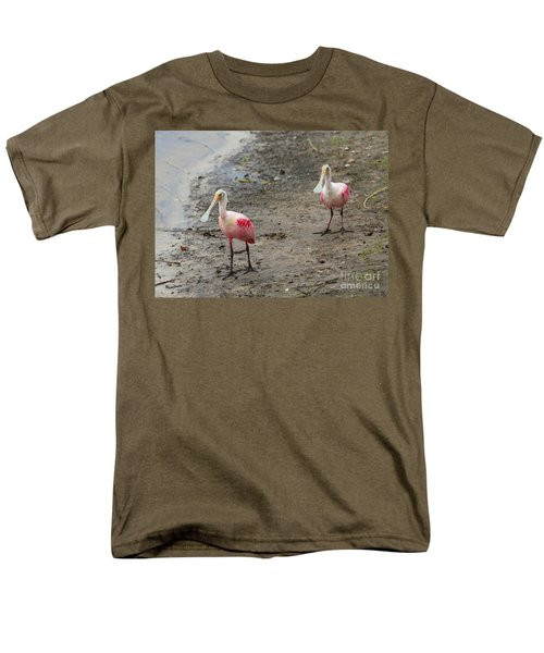 Two Roseate Spoonbills 2 Men's T-Shirt  (Regular Fit) by Carol Groenen