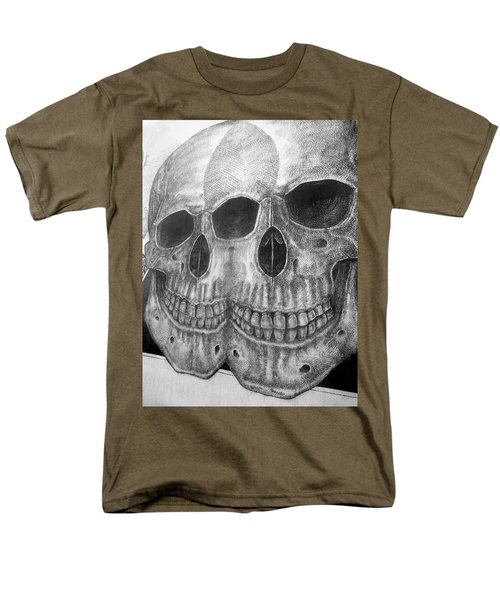 Men's T-Shirt  (Regular Fit) featuring the photograph Two Skulls ... by Juergen Weiss