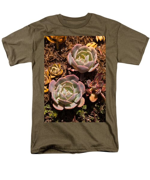 Men's T-Shirt  (Regular Fit) featuring the photograph Two Succulents  by Catherine Lau
