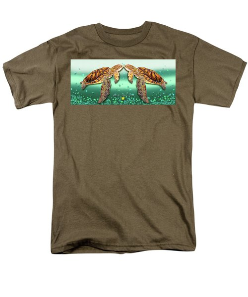 Two Turtles Men's T-Shirt  (Regular Fit) by Debbie Chamberlin