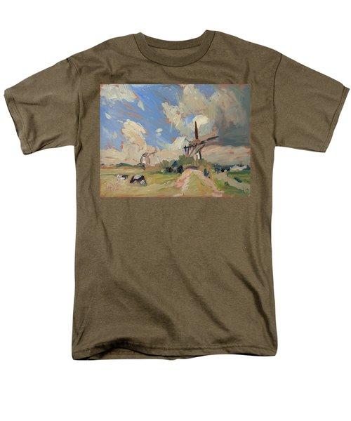 Two Windmills Men's T-Shirt  (Regular Fit) by Nop Briex