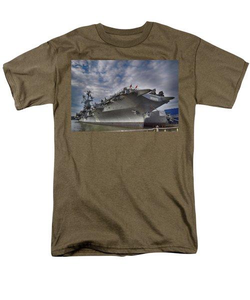 U S S  Intrepid     Men's T-Shirt  (Regular Fit)