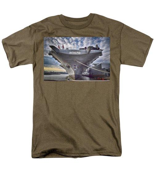 U S S   Intrepid's Bow  Men's T-Shirt  (Regular Fit)