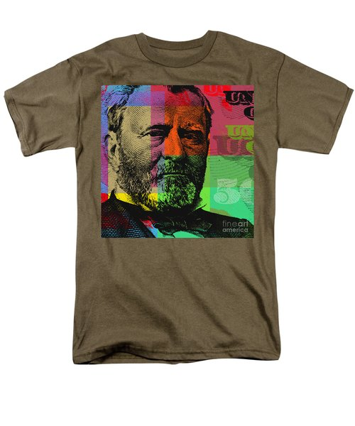 Men's T-Shirt  (Regular Fit) featuring the digital art Ulysses S. Grant - $50 Bill by Jean luc Comperat