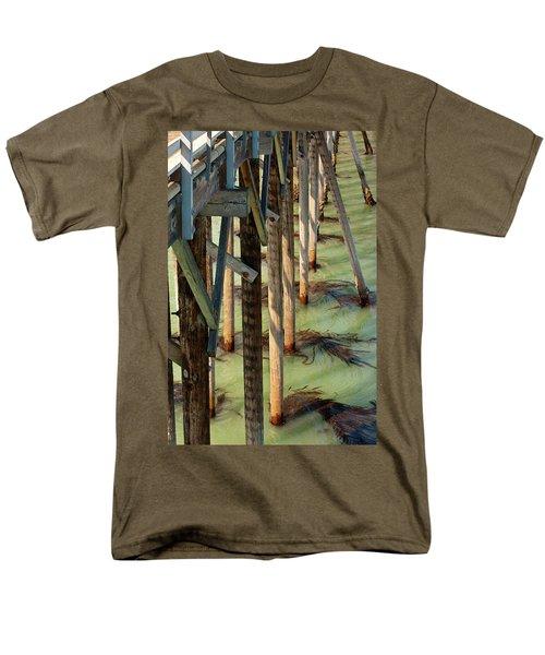 Men's T-Shirt  (Regular Fit) featuring the photograph Under San Simeon Pier by Art Block Collections