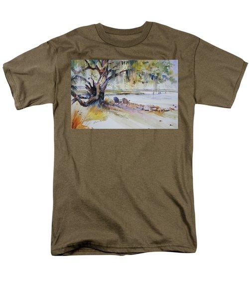 Under The Live Oak Men's T-Shirt  (Regular Fit) by P Anthony Visco