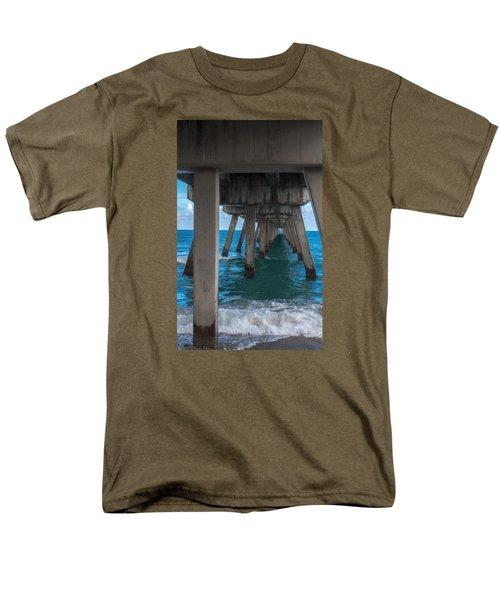 Men's T-Shirt  (Regular Fit) featuring the photograph Under The Pier by Arlene Carmel