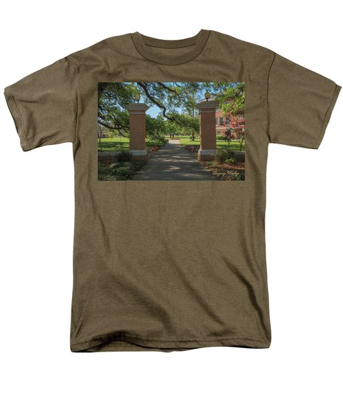 Men's T-Shirt  (Regular Fit) featuring the photograph University And Johnston Entrance by Gregory Daley  PPSA