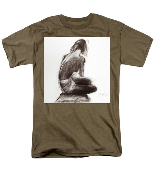 Men's T-Shirt  (Regular Fit) featuring the painting Until The Sea Shall Free Them by Jarko Aka Lui Grande