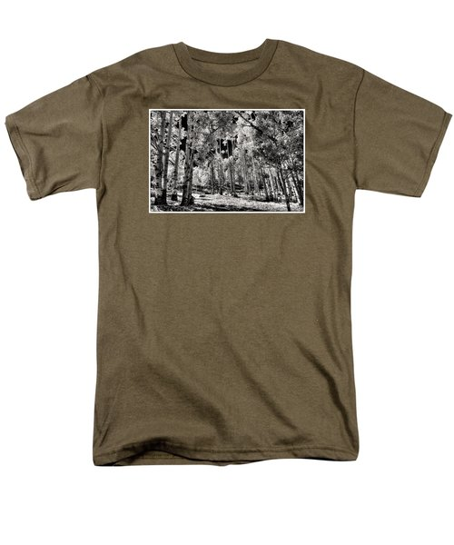 Men's T-Shirt  (Regular Fit) featuring the digital art Up Among The Aspens by William Fields