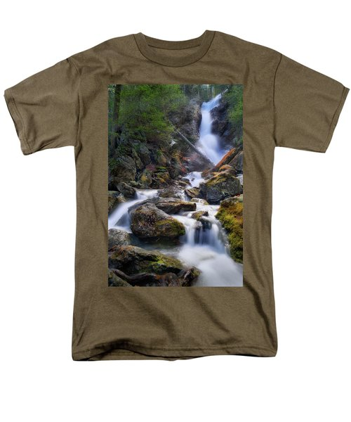 Men's T-Shirt  (Regular Fit) featuring the photograph Upper Race Brook Falls 2017 by Bill Wakeley