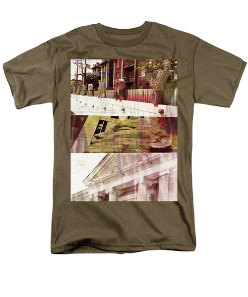 Men's T-Shirt  (Regular Fit) featuring the photograph Uptown Library With Color by Susan Stone
