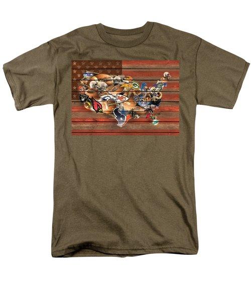 Usa Nfl Map Collage 6 Men's T-Shirt  (Regular Fit) by Bekim Art